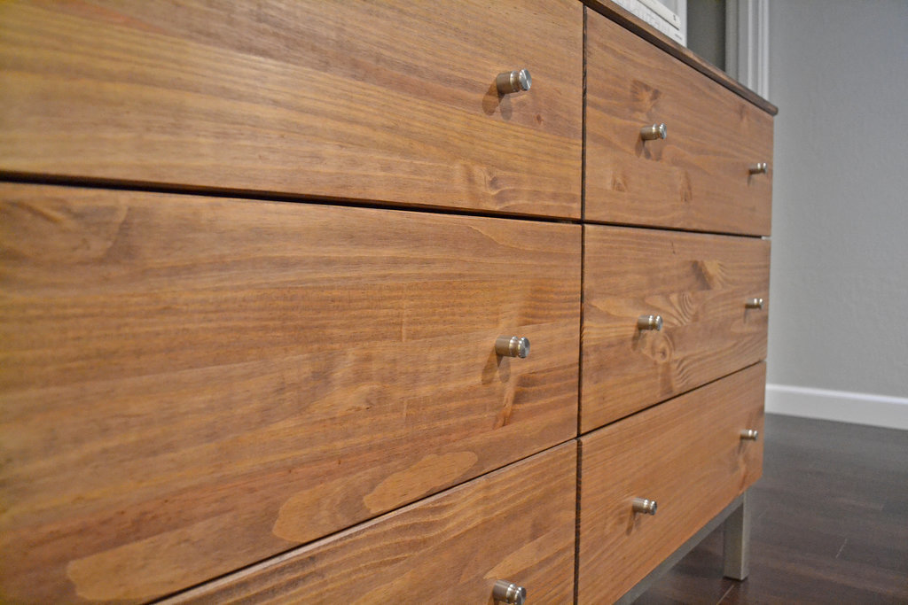 Next she replaced ikea knobs stainless steel beauties