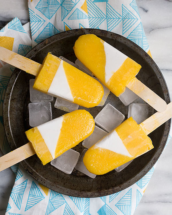 Mango, Cardamom, and Coconut Popsicles