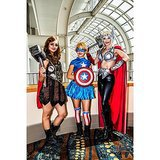 Two lady Thors met up with Captain America at Long Beach Comic Con. Love all the boots, ladies. Source: Instagram user dougstidhamphotography