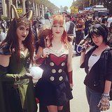 Friends who cosplay together, stay together. Loki, Thor, and Stark team up at WonderCon 2014. Source: Instagram user anachronisminaction