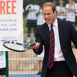 Prince William Playing Tennis at Coventry War Memorial Park