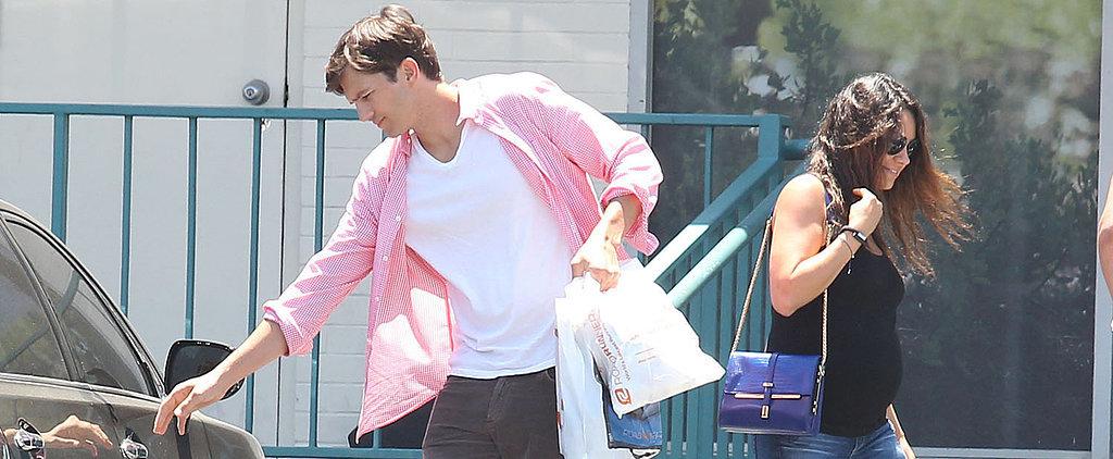 Ashton Reunites With Pregnant Mila Following His World Cup Trip