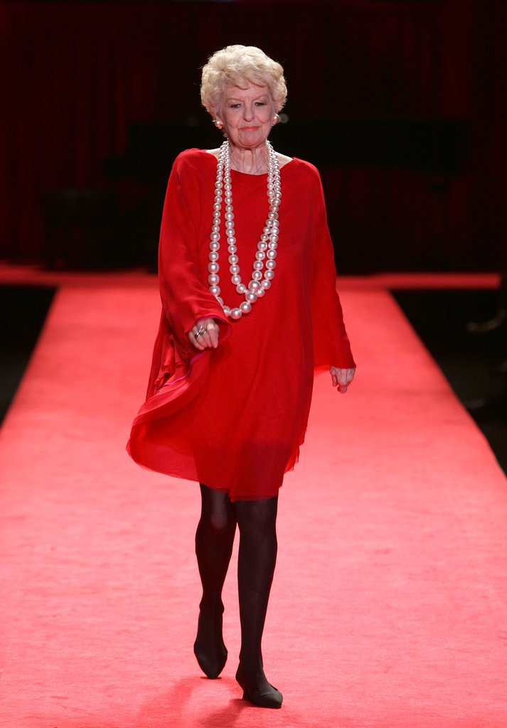 Elaine Stritch at the Fall 2006 Heart Truth Runway Show