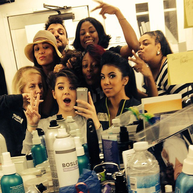 "Steinfeld and Fit showed off their ""glam squad"" moment. Source: Instagram user pitchperfectmovie"