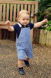 Prince George's First Official Steps