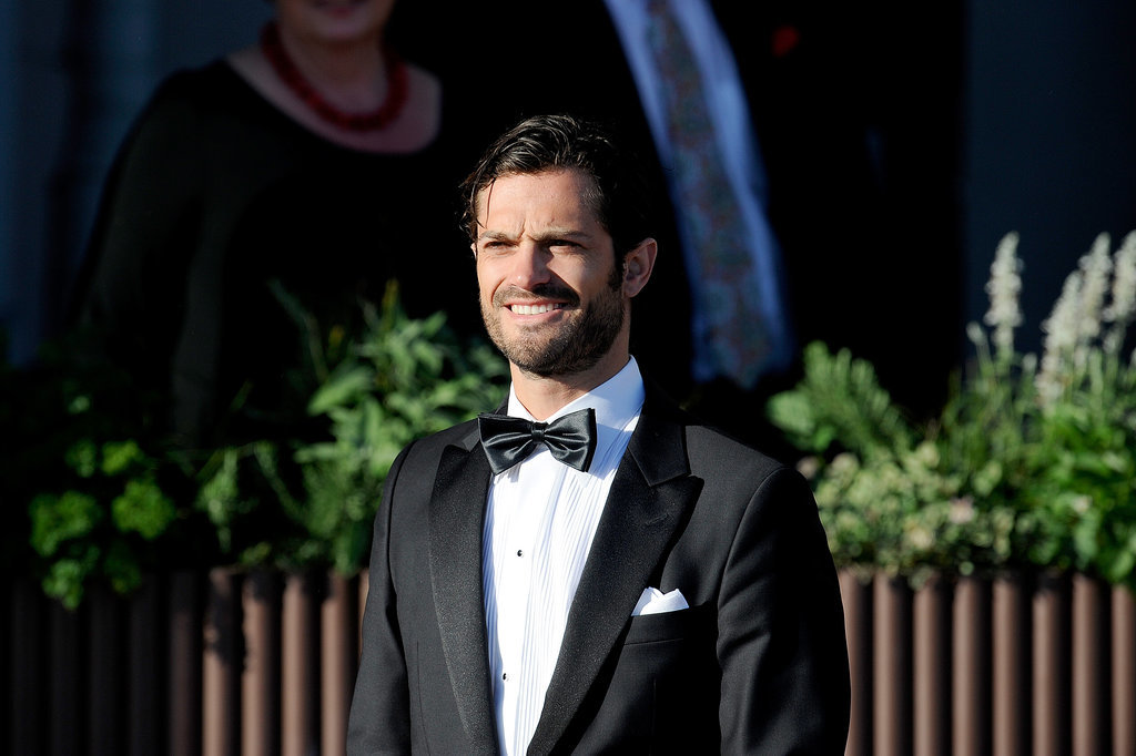 Prince Carl Philip looked dapper during a private dinner ahead of Princess Madeleine's June 2013 wedding.