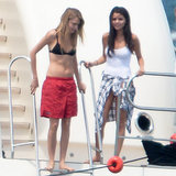 Selena Gomez and Cara Delevingne in a Bikini in Saint-Tropez