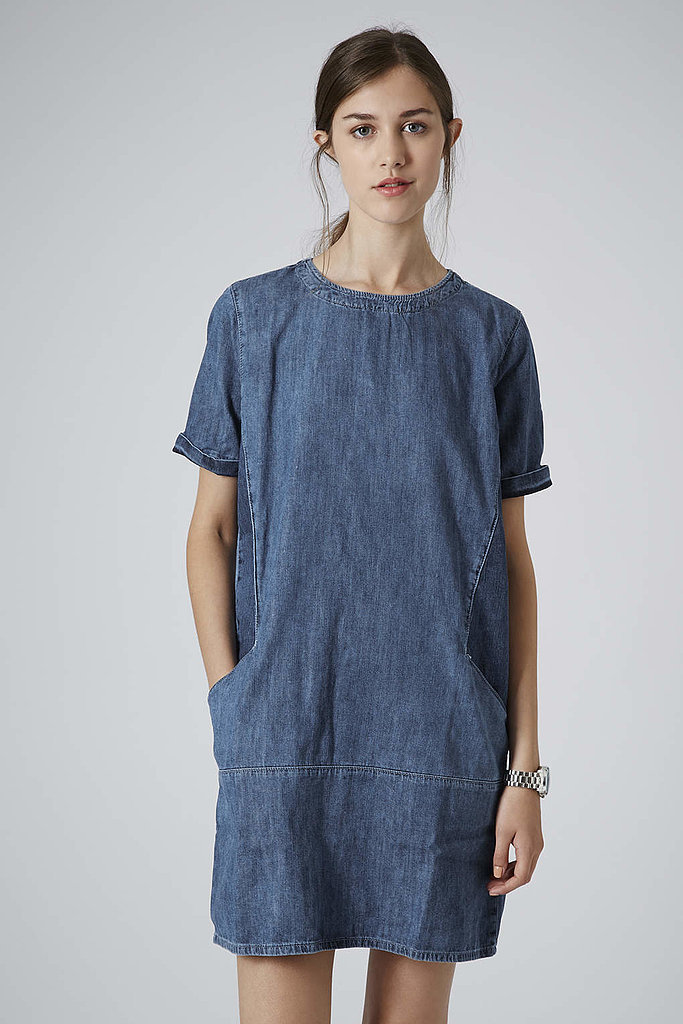 Topshop Moto Denim Pocket Dress