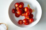 A Hack for Slicing Cherry Tomatoes