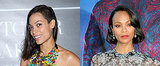 Rosario Dawson and Zoe Saldana Step Out in Daring 'Dos