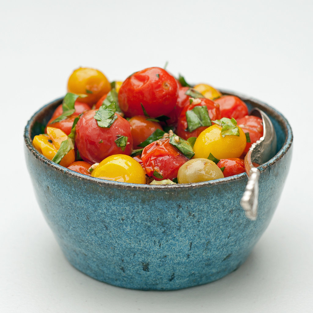 Roasted Tomatoes and Herbs