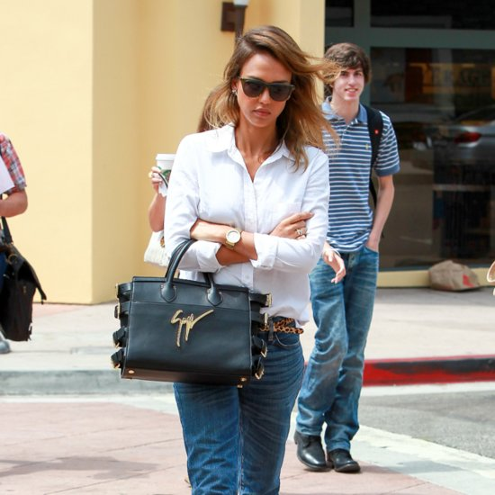 Jessica Alba Just Changed Everything You Know About Jeans and a Button-Down