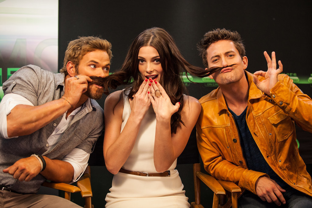 Things got sweet and silly for Twilight's Kellan Lutz, Ashley Greene, and Jackson Rathbone during an interview in 2012.