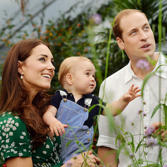 Prince George Walking in First Birthday Portraits