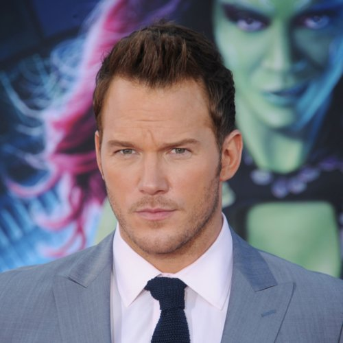 Chris Pratt French-Braiding Hair