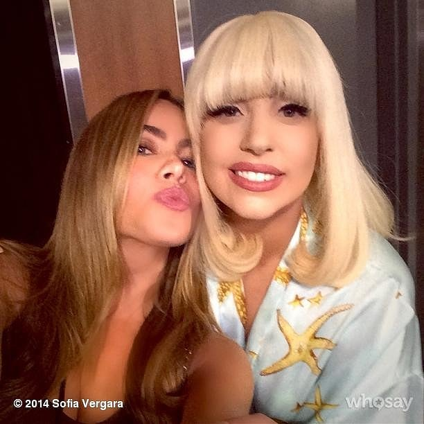Sofia Vergara let all of her followers know she shared a moment with Lady Gaga.