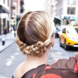 Reverse Milkmaid Braid Tutorial
