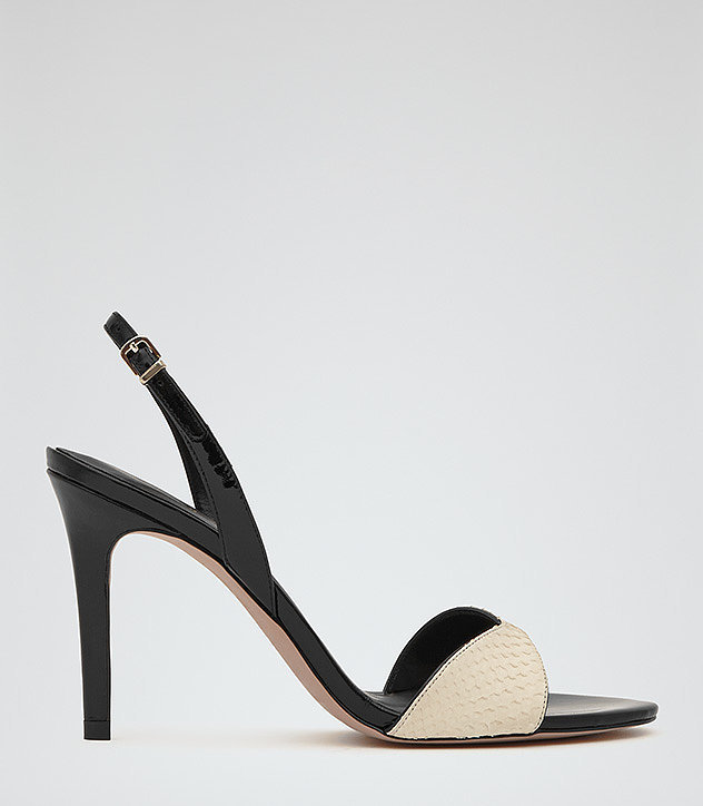 Leone Two-Tone Slingbacks