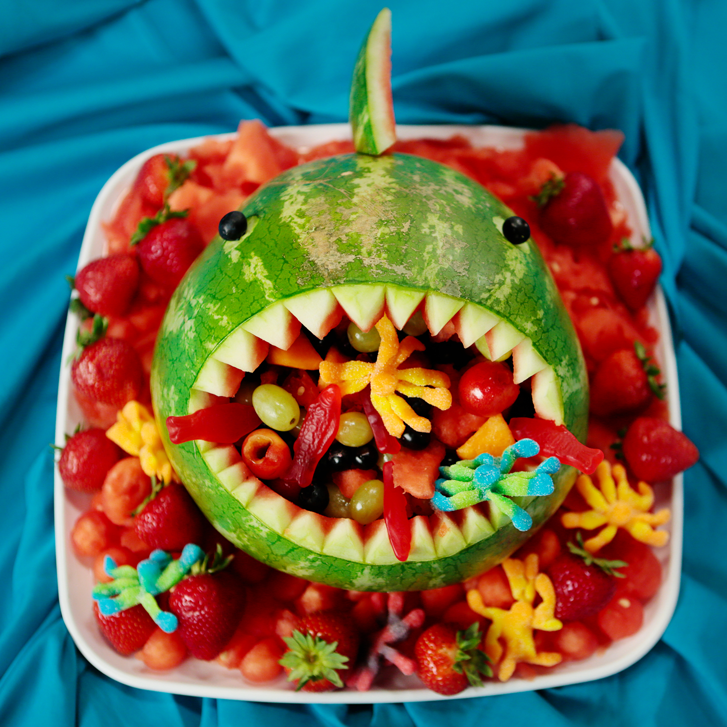 Watermelon Shark Fruit Salad Recipe | POPSUGAR Food