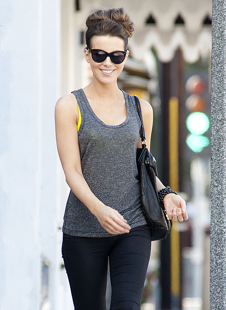On Wednesday, Kate Beckinsale flashed a smile while out in LA.