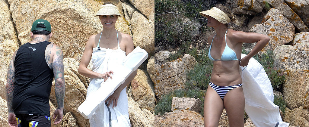 Cameron Breaks Out Her Bikini For Italian Adventures With Benji