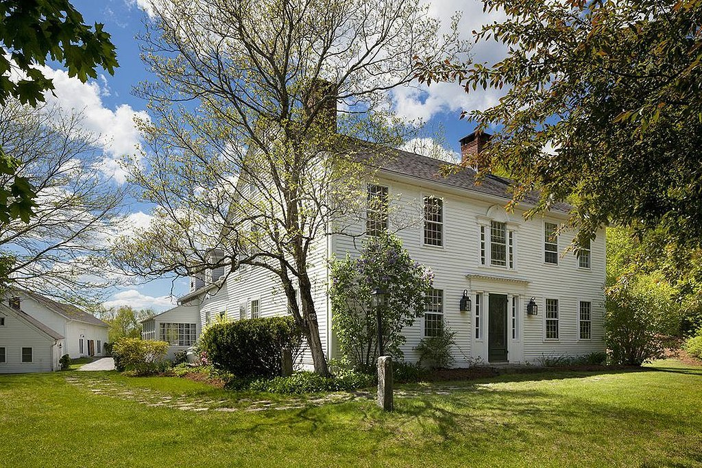 Built in 1770, the main residence has been redone for modern living but still has original architectural details.  Source: Landvest