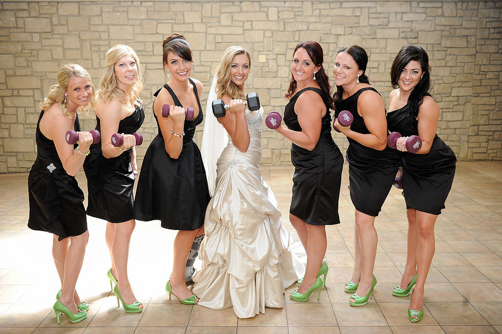Real bridesmaids lift! Brittany and Derrick got the bridal party in the spirit of the celebration with fun and sweet photos. Photo by Ampd Photography