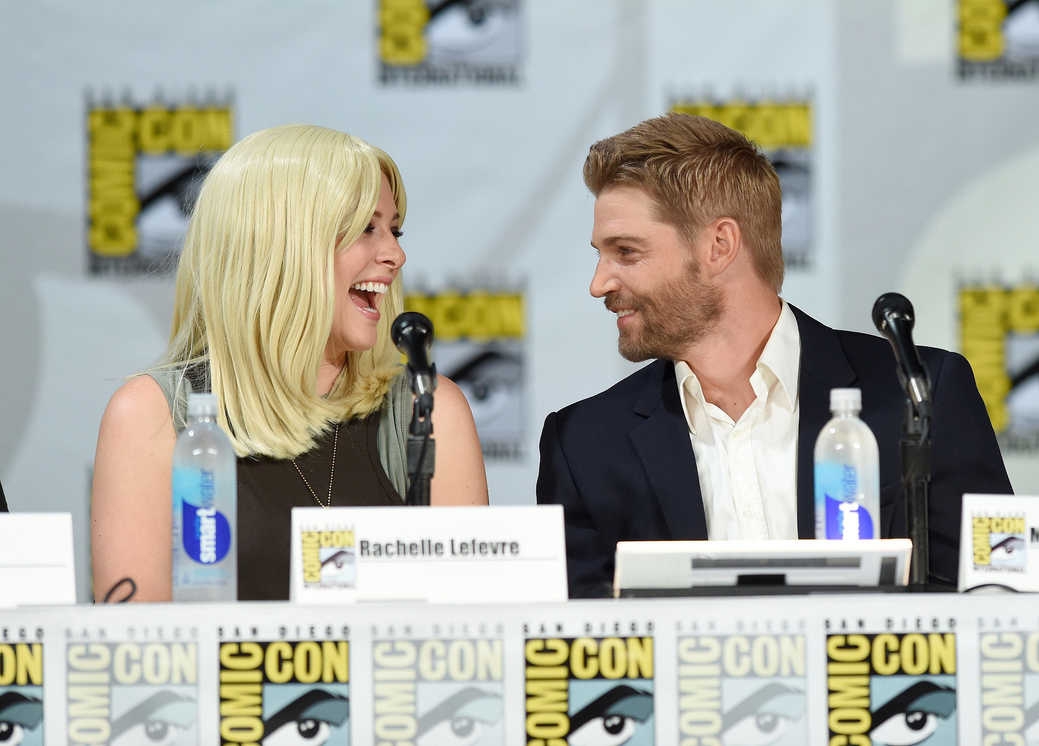 Under the Dome's Rachelle Lefevre and Mike Vogel laughed at their panel on Thursday.