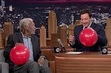 Morgan Freeman And Jimmy Fallon Have A Conversation After Inhaling Helium
