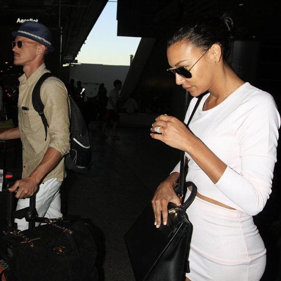 Naya Rivera and Ryan Dorsey at LAX After Their Wedding