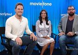 Chris Pratt, Zoe Saldana, and Dave Bautista Get Weird in Our 'Guardians of the Galaxy' Unscripted (VIDEO)