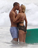 Paris Hilton Kisses a Guy in