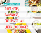 Daily Meal Plan: Three Meals, Two Snacks, One Dessert—All Under 1,600 Calories