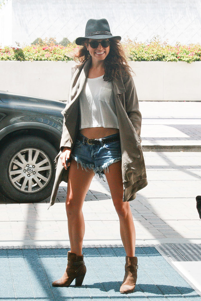 Nikki Reed showed off her legs at Comic-Con on Saturday in San Diego.