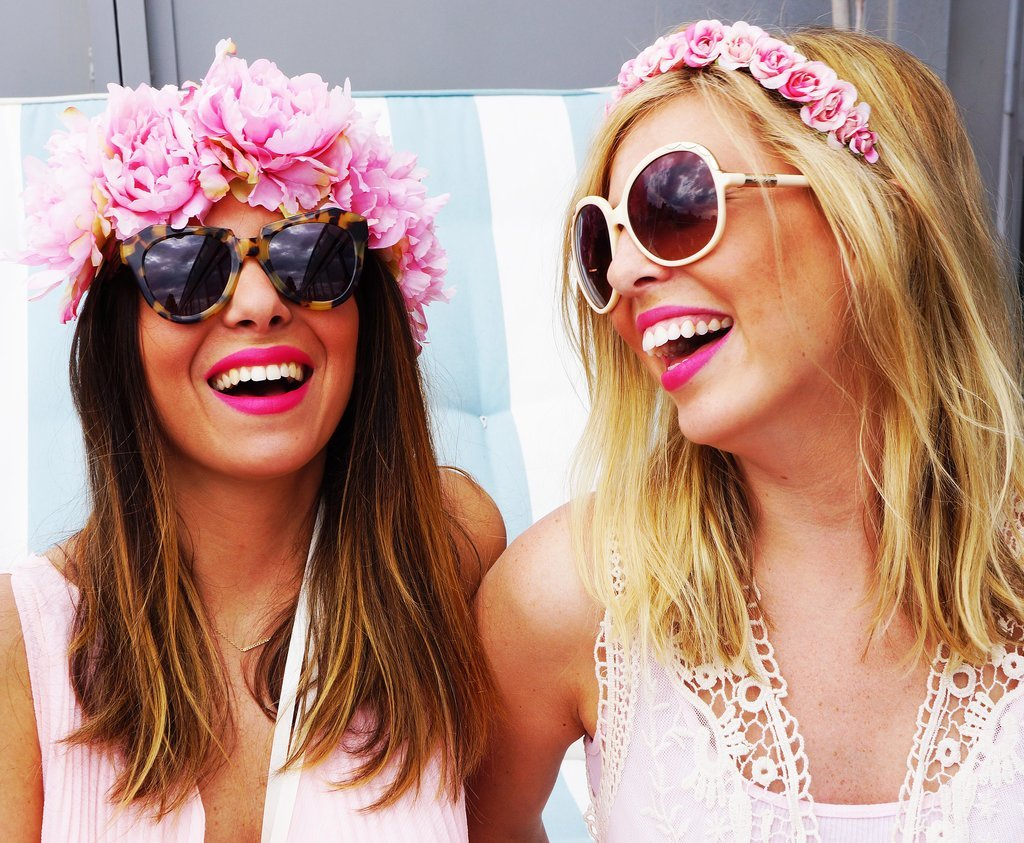 POPSUGAR: Festivals are long and hot, is there any way to make a flower crown last? Christy Meisner: For festivals, some people like fake flowers that will last for a few days. If you're wearing real flowers, keep them in the refrigerator before to help them last longer throughout the day. Just know that once you're wearing the crown in the heat, the time counts down, like Cinderella. That's sort of the beautiful thing about them; they only last for so long, so you want to make the most of it while you can. PS: Will certain flowers stand the heat better?  CM: Sometimes smaller blooms are better for that. I love using wax flowers. I also love to use freesia since they usually can hold a little bit longer. If you're doing larger daisies or roses, they have a shorter life span, as beautiful as they are.  PS: Do you ever use flowers with scents?  CM: Jasmine is great for adding scent. There's not a ton of color in the blooms, but you can kind of weave them in with other flowers to create the smell. Wax flowers also have a minty smell to them. Sometimes I will also spray them with fragrance to give it an extra scent. So, if you want your crown to smell, you can always spray it with your own perfume. Source: Crowns by Christy