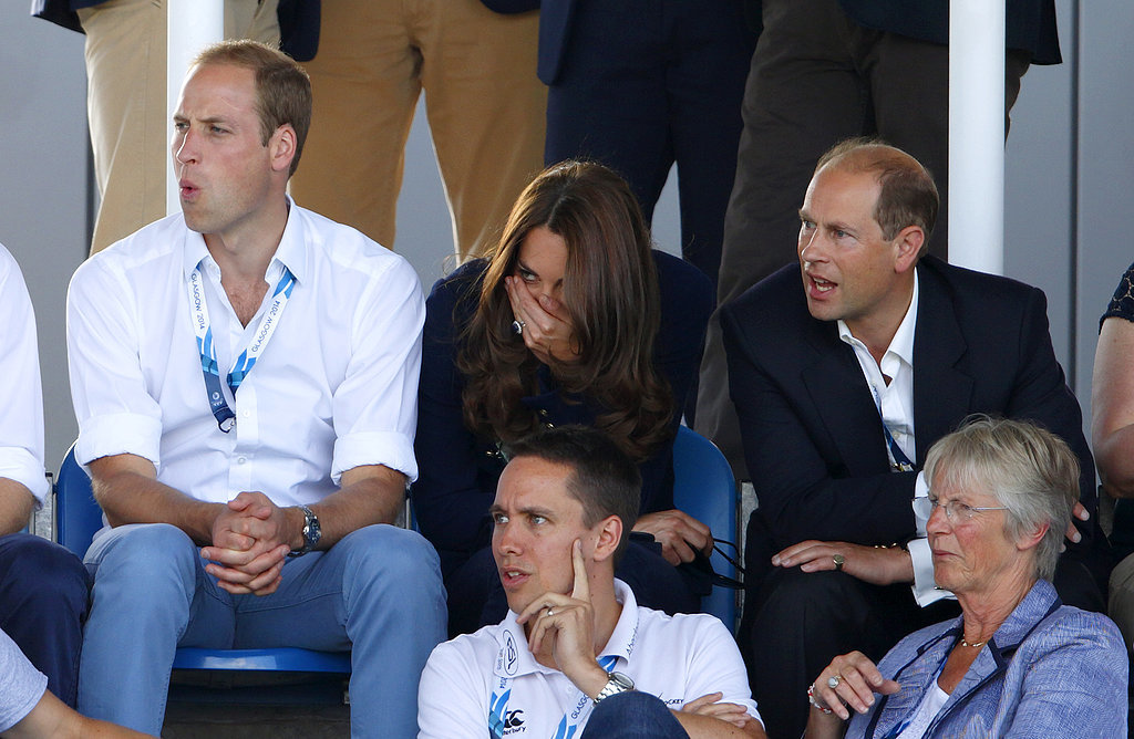 Will, Kate, and Prince Edward couldn't hide their expressions while watching the Wales v. Scotland hockey match on Monday.