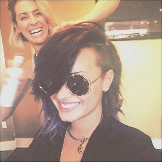 Daring Demi Lovato Makes Her Hair Even Bolder With an Asymmetrical Lob
