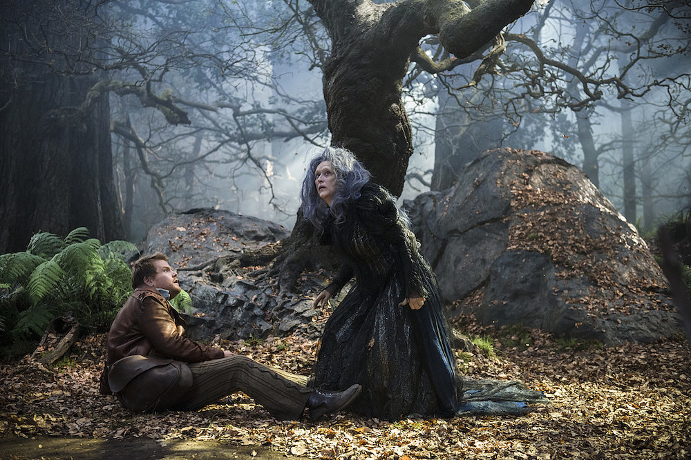James Corden as the Baker and Streep as the Witch.