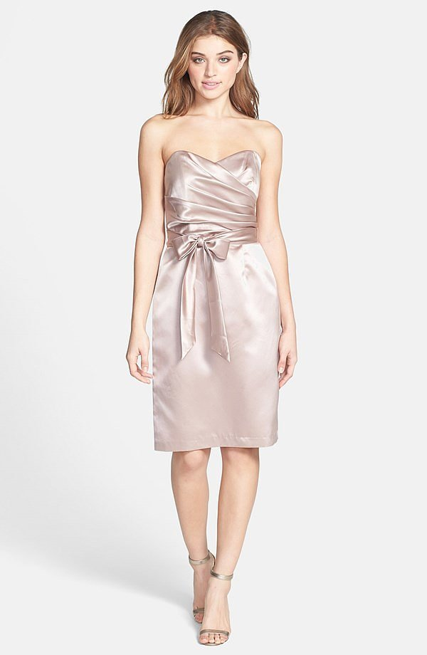 Dessy Collection Satin Sheath Dress