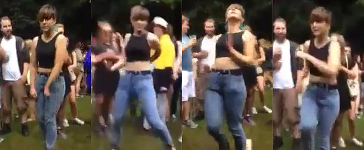 This Girl Dancing in Mom Jeans Redefines the Notion of Getting Turned Up