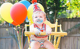 Cute! First Birthday Pool Party