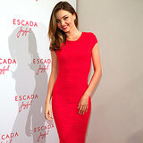 Miranda Kerr and Montana Cox Wearing Red Mini Dresses