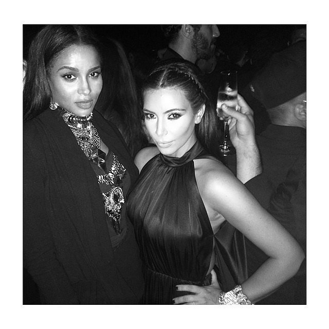"""It was a """"mommy's night out"""" for Kim and Ciara, who gave birth to a baby boy in May.  Source: Instagram user kimkardashian"""