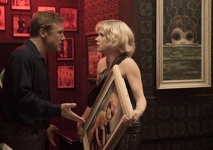 Christoph Waltz as Walter Keane and Adams as Margaret Keane.