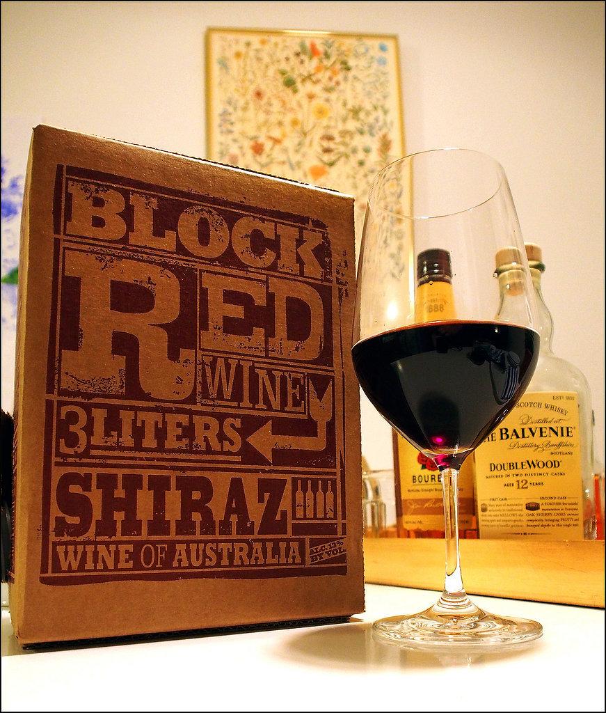 Wine in a box.