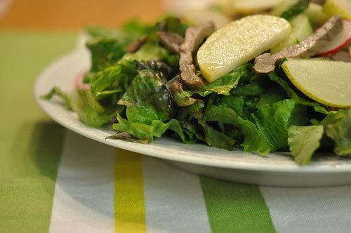 Apple Pear With Seasame Steak Salad