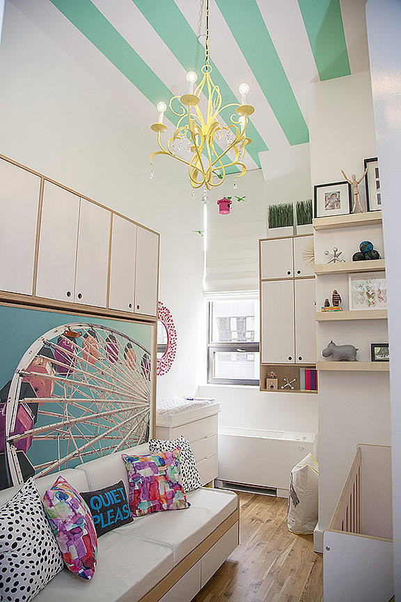 A Candy-Colored Nursery With the Happiest Ceiling Ever!