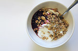 Greek Yogurt With Granola and Jam