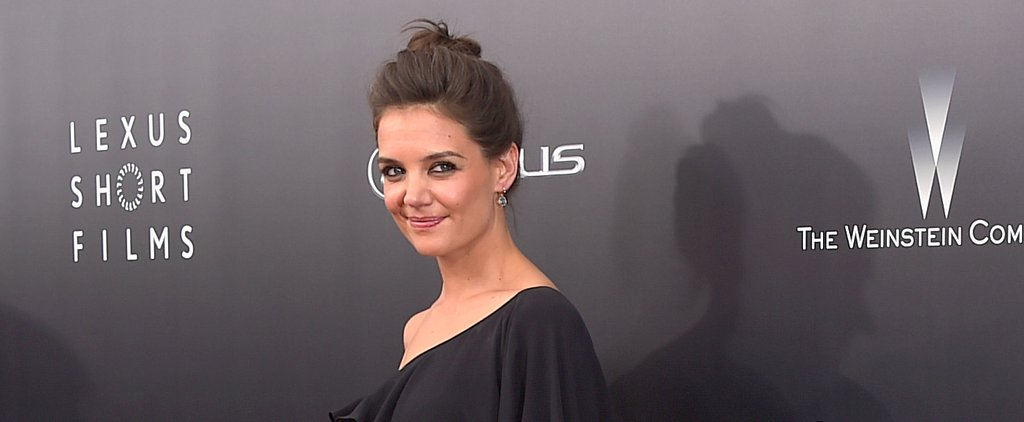 Katie Holmes Hits the Red Carpet With Black Eyeliner and Grey Hair