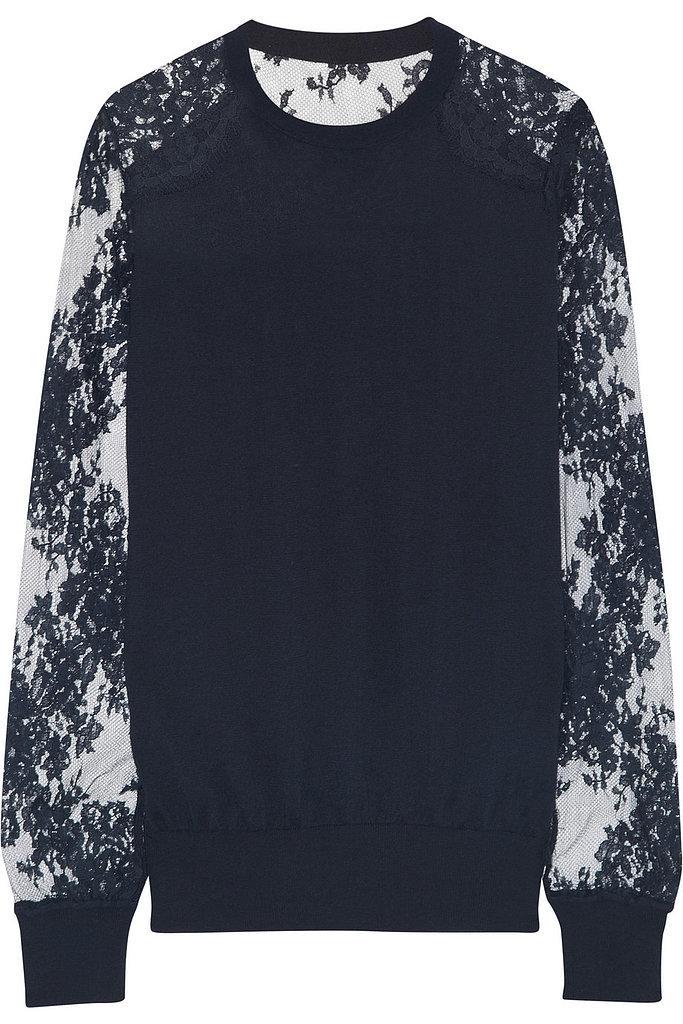 Erdem Modal-Blend Sweater + Sheinside Porcelain Print Dress